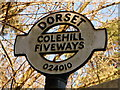 SU0200 : Colehill: Fiveways finger-post detail by Chris Downer