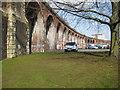 SO8455 : Railway viaduct in Worcester : Week 9