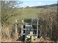TQ8930 : Stile and footbridge on the High Weald Landscape Trail heading to Dumbourne Farm by David Anstiss