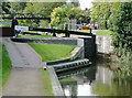SP1391 : Birmingham and Fazeley Canal at Minworth Top Lock, Birmingham by Roger  Kidd