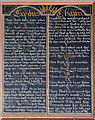 TF7115 : The church of St Cecilia in West Bilney - decalogue board by Evelyn Simak