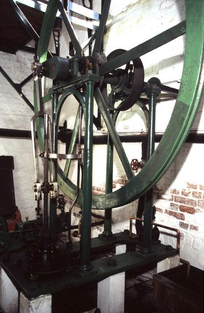 Crofton Pumping Station, vertical steam engine