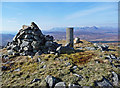 NG7217 : Cairn and trigpoint on Beinn na Seamraig by John Allan