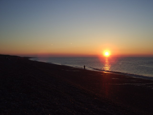 Weybourne beach sunset