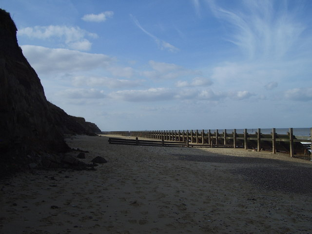 Happisburgh cliffs and sea defences