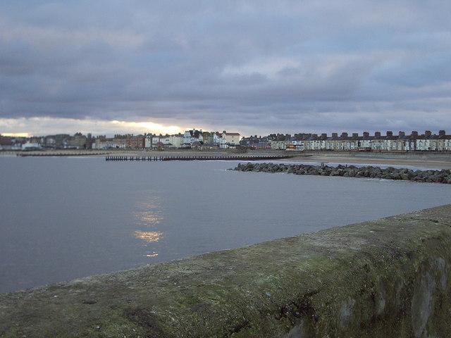Lowestoft sea front taken from  South pier