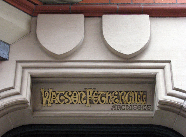 Watson Fothergill's Offices, George Street: signature