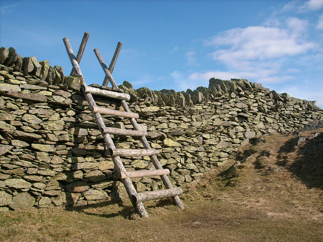 Stile over wall