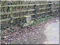 TQ2909 : Unused mounting block by Brownie's Bridge by Dave Spicer