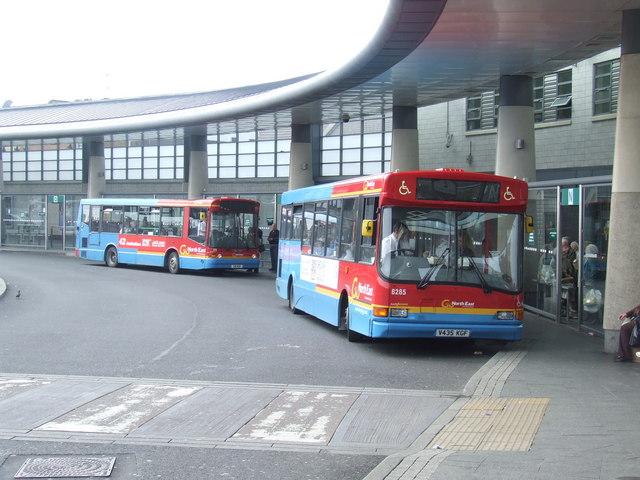 Buses in Park Lane Interchange
