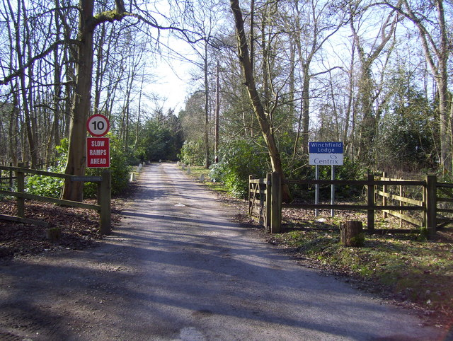 Entrance drive to Winchfield Lodge
