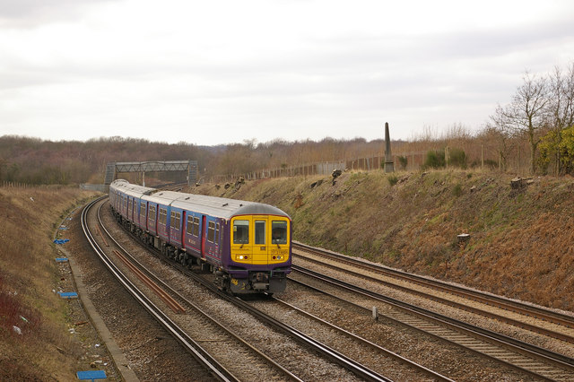 Railway west of Swanley