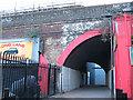 TQ3179 : Footpath through a railway arch, Southwark Bridge Road by Stephen Craven