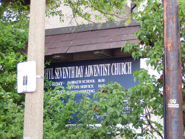Seventh Day Adventist Church sign