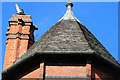SK5349 : Tower roof and chimney by David Lally