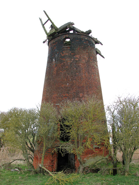 Derelict drainage mill in the Limpenhoe marshes