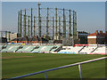 TQ3177 : The Oval: gasholder by John Sutton