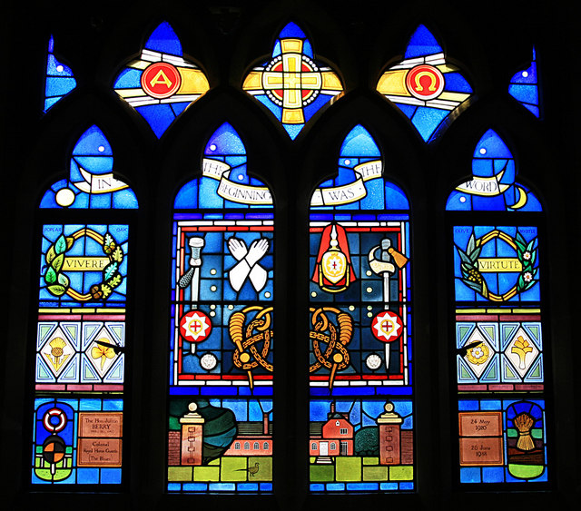 Memorial window to Julian Berry, Tunworth Church