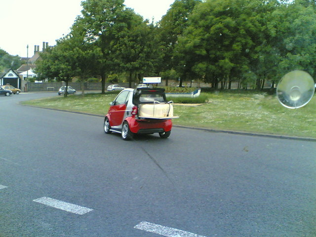 Amazing what you can get into a Smart Car
