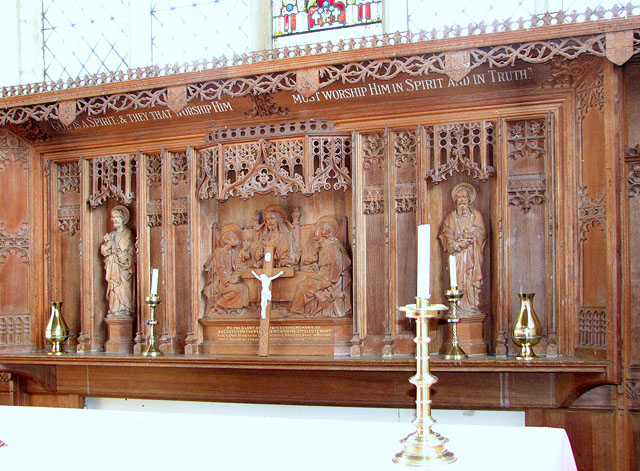 The church of SS Peter and Paul in Shropham - reredos