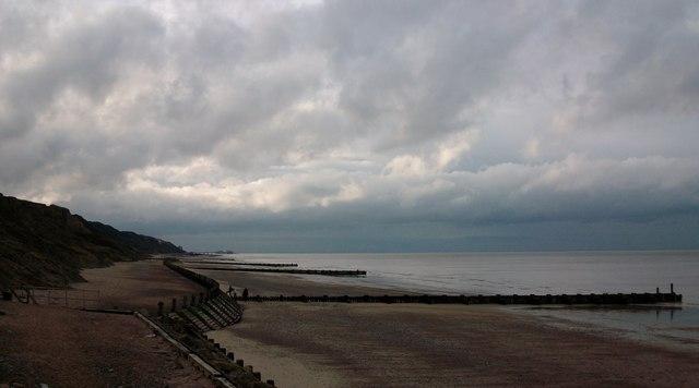 Overstrand Beach looking towards Cromer