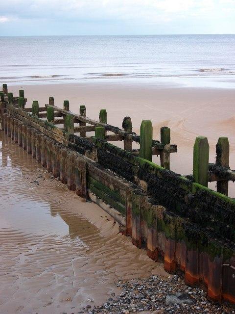 Rusting Groyne Overstrand Beach