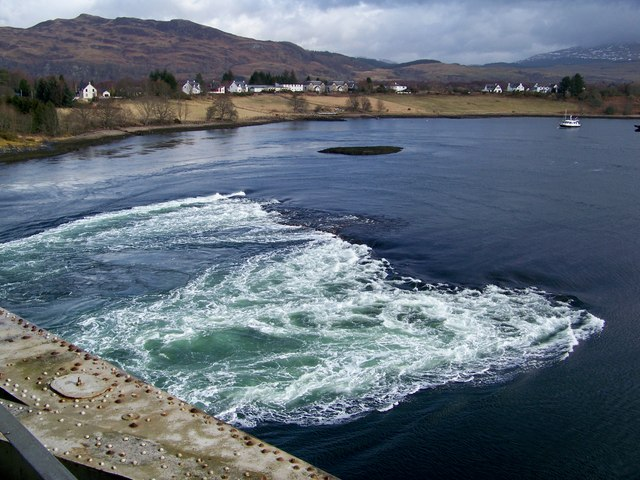 Falls Of Lora From Connel Bridge