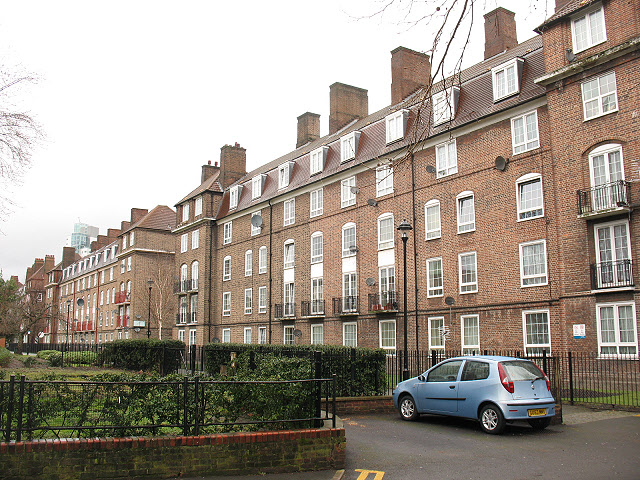 Housing on Manciple Street (backs)