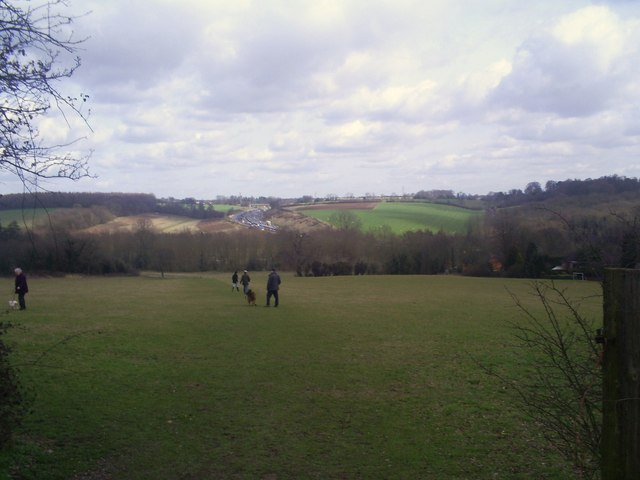 Chorleywood House Estate with M25 in the distance