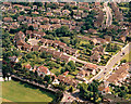 TQ8187 : Aerial view of Scrub Lane and Rectory Road, Hadleigh by Edward Clack