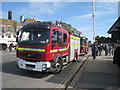 TQ8209 : Fire Engines on Rock-A-Nore Road by Oast House Archive