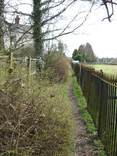 Footpath at rear of cottages in Acton Bridge