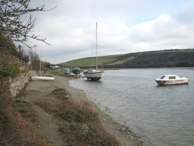 Boats beside the River Gannel