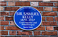 Photo of Samuel Kelly blue plaque