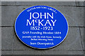 Photo of John McKay blue plaque