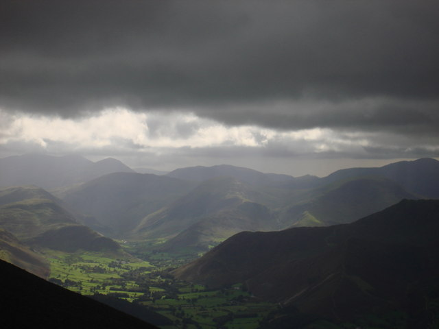 Looking south from Skiddaw summit path