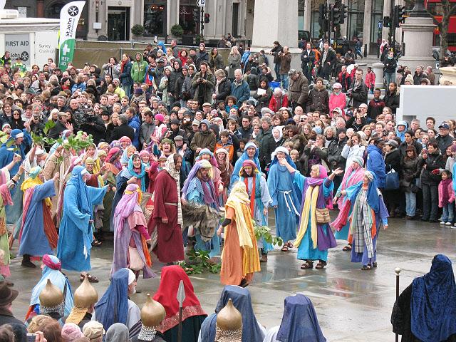 Trafalgar Square passion play: the Triumphal Entry