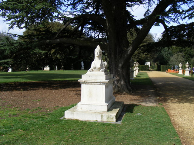 Sphinx in grounds at Chiswick House