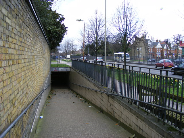 Entrance to subway under the Great West Road, Chiswick