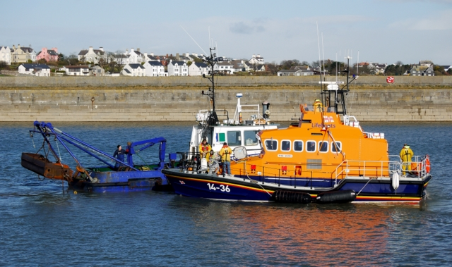 Lifeboat and boat, Donaghadee