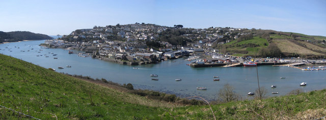 Salcombe Estuary and town from Snape Point
