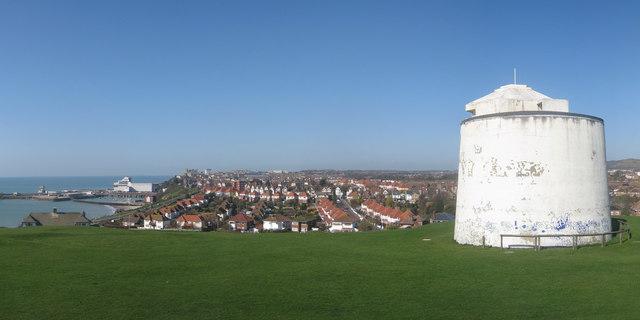 View over Folkestone