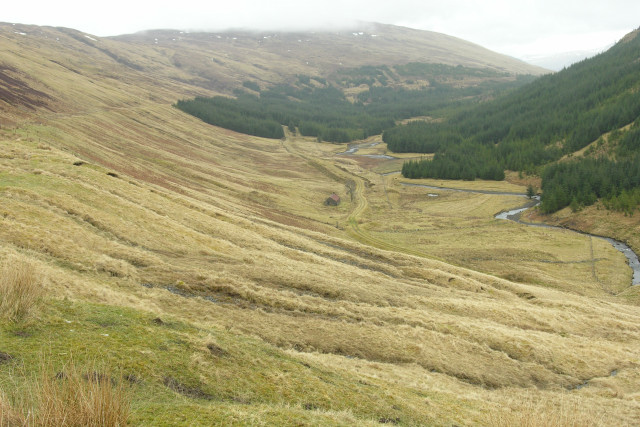 Looking East-North-East up Glen Gloy