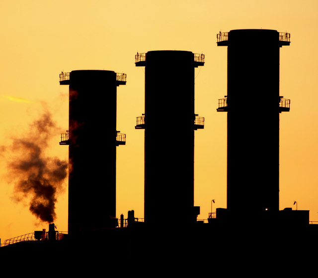 Saltend Power Station Chimneys