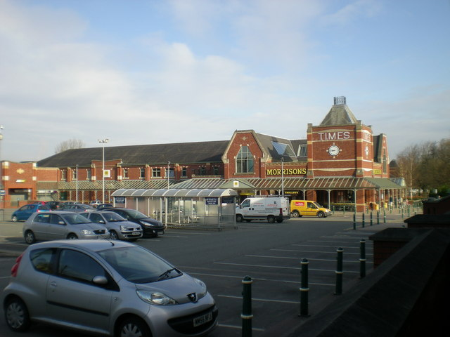 Supermarket and car park