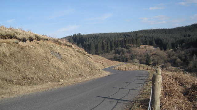 Moorland Road above the Kershope Burn