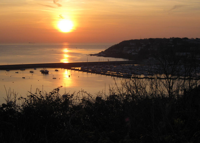 Brixham Breakwater and Marina  ... at sunrise