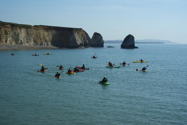 Canoes in Freshwater Bay, Isle of Wight