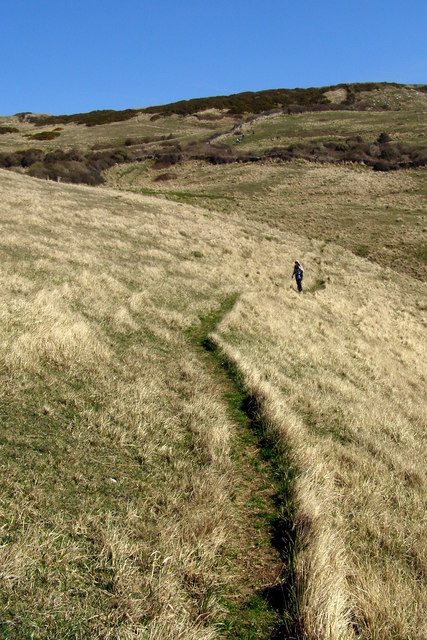 Ascent to the Upper Path from Dancing Ledge