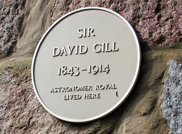 David gill yellow plaque open plaques for 48 skene terrace aberdeen